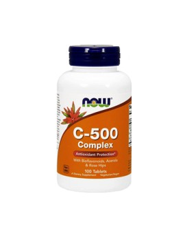 NOW Foods - Vitamin C-500 | C 500 mg With Rose Hips